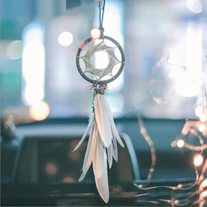 Dream Catcher Handmade Beaded Feather Pendant Dreamcatcher Home Decor Car Ornament Keychain Wall Hanging Arts Crafts Gift Party Favors