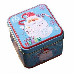 Quadrado Bump Caixa Decorações Decorações de Natal Armazenamento Caixa de Ferro Natal Candy Doces Childrens Gift Bucket Chapéu Printing S3RS #