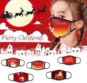 Christmas mask children adult men and women cotton dust protection cartoon printing washable Xmas Designer Masks