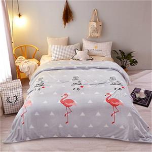 Marque chaud Textile Flamingos Anime Décorations d'hiver Accueil Blanket Voyage de Noël pour cadeau LREa