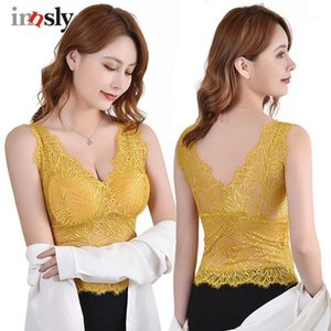 Camisoles & Tanks Innsly Women Sexy Padded Wireless Floral Female Tank Top Ladies Lingerie Vests Tube Wire Free Comfortable1