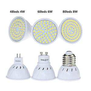 GU10 E27 MR16 B22 GU10 LED Lâmpada Lâmpada LED 220 V 110V 2835 SMD 48 60 80 LED Spotlight Lampada Bombillas Iluminação Interior