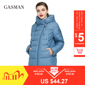 GASMAN Long Puffer Winter Down Jacket Women Thick Coat Women Hooded Parka Warm Female Brand Cotton Clothes Winter Plus Size 6XL 201106