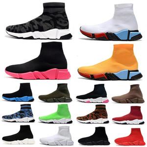 balenciaga 운동화 저렴한 카모 패션 양말 신발 남성 여성 캐주얼 신발 lurex 니트 낙서 블랙 레드 화이트 옐로우 블루 오레오 남성 야외 스포츠 운동화 36-45