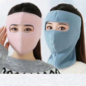 Флис Trooper маска для лица Маски Полное Facekini Взрослый мужской Зимний Теплый Открытый Спорт Skimask Велосипед Мотоцикл Headwear Шляпы AHF2536