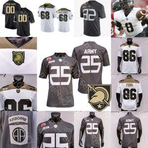 Ejército de encargo caballeros negros del jersey del fútbol universitario NCAA Jemel Jones Jakobi Buchanan Tyrell Robinson Wilson Catoe Alston Rhattigan Cunningham
