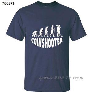 Customize engraçado Casual Coinshooter Evolução t-shirt homens e mulheres mens Crest Tshirts gola redonda Interessante Tee superior 523510