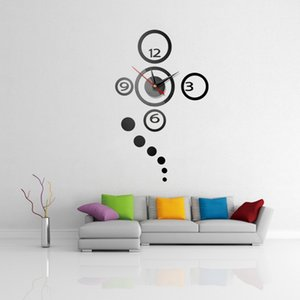 Dots 3D DIY Wall Clock Modern Design Large Acrylic Clocks Home Sticker Decor Aesthetic Room Decor Clock On the Wall Numbers