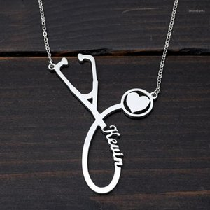 Custom Stethoscope Necklace Personalized Name Necklace Nameplate Pendant Gift Gift Graduation Gifts1