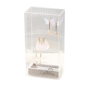 Acrylic Box Clear Stand Studs Holder Necklace Display Organiser Storage Organizer Rack Earring Jewelry Npqsm