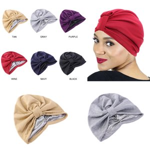 Styling Women's Hair Cap For Sleeping Chemotherapy Hat Double Layer Satin Elastic Lined Headscarf Bonnet Headband Turban