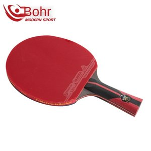 Six star table tennis racket carbon blade rubber double sided table tennis racket machine with short handle and long handle for good control