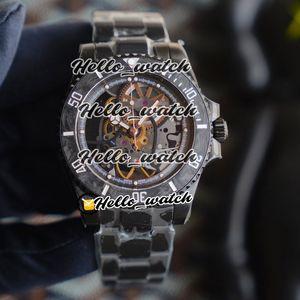 R Refit édition Andrea Pirlo Bezel Fibre Carbon Project Skeleton Dial Miyota automatique 116610 Mens Watch Pvd Steel Band Montres Sport Noir