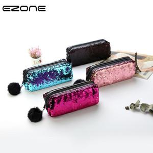 Creative réversible Sequin E-Zone sac de crayon élèves de l'école Crayon sac à grande capacité Magic Pen Case cadeau de Noël pour les amis