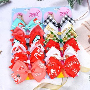 Jojo Siwa Hair Ornament Suit 4.7 inch bow 6 color one card child hairpin Children's Hairpin Baby's Headdress