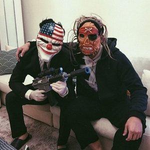 Spiel Ernte Tag 2 Masken Cos Halloween Robber Joker-Animation Pay Spielen Tag Ernte Masken-Maskerade-Masken-Sets Maskerade Masken Silber eoZU #