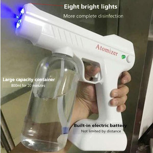 800ML 1300W Blue Light Nano Steam Gun Atomizing Fogger Disinfection-Sprayer Gun Wireless Nano Mixed Vapor Spray Machine