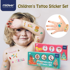 Наклейки татуировки Mideer Детский мультфильм Красочный сад 234 шт. Палец Наклейка Детские Игрушки Подарки 3 года 201026