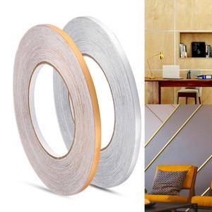 50x0.05m Gap Sealing Foil Tape Wall Sticker Floor Seam Sticker Waterproof Gold Silver Copper Foil Strip Home Decor