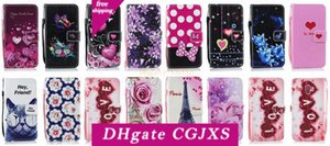For Iphone Xr 6 .1inch Xs Max 6 .5inch Flower Love Leather Wallet Case For Sony Xa1 Xa2 Xz1 Xz2 L1 L2 Butterfly Paris Eiffel Tower Flip Cove