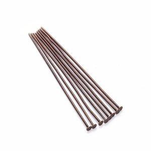 200 pz / borsa 40 50 mm Pins flat head Dia 0,7mm oro / argento / rodio / rame / in bronzo Pins per gioielli per fare accessori Jllboy
