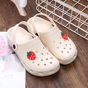2021Summer Women Croc Clogs Platform Garden Sandals Cartoon Fruit Slippers Girl Beach Shoe Fashion Slides Outdoor Sandalias De Mujer #777H