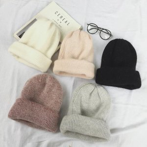 2020 winter Women hair skullies Hat warm beanies hats casual women solid adult caps cover head
