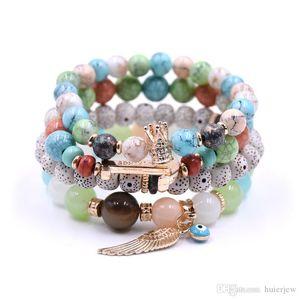 Freundschaftsbänder Love Brand Mode-Armband-Armbänder Luxus Strand Stretch-mehrschichtige Perlen-Armband