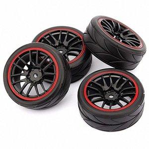 4pcs 12mm de moyeu de roue Jantes en caoutchouc Pneus RC 1/10 sur route Touring Car Drift pour voiture jouet enfant xa1L #