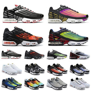 2020 Plus III 3 TN Mens TUNED Running Shoes Classic Outdoor tn Black White Sport Shock Sneakers requin Blue Spider Eur40-45