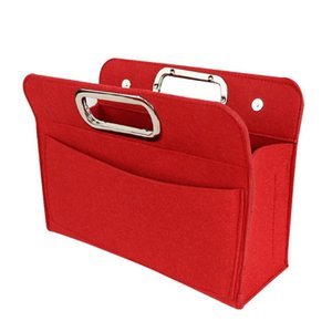 Insert Bag with Pockets Purse Organizer Handbag Tote Felt File Bags Multi Pocket