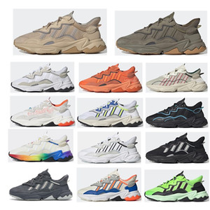 2020 King Push Ozweego para Homens Mulheres Casuais Sapatos Era Pacote Reflexivo Xeno Preto Brilhante Cyan Pusha T Trainer Esportes Sneakers 36-45