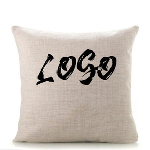 Blank linen pillowcase 40*40cm pillow cover for heat transfer printing sofa throw pillowcase DIY sublimation pillow cases covers in stock