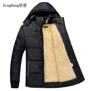 XingDeng 2020 New Mens thick warm fashion Jackets windcheater 80s Hooded Casual Sporting top Coat thicken clothes plus 3xl