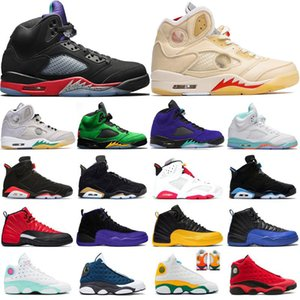 2021 Mens Basketball Chaussures Nouvelle Arrivée Entraîneurs 5S Top 3 Alternate Cépe Light Aqua 12S Concord 13S FLint Aurora Green 6S Sport Sneakers
