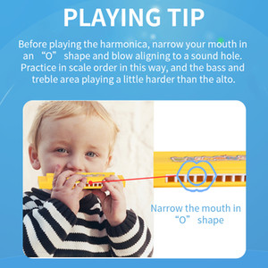 New product Creative Music Gift for Children's Plastic Harmonica Kindergarten pupils learn to play the mouth organ