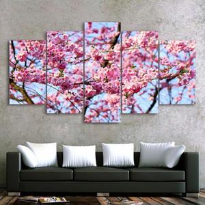 DIY Diamond Paintings 5 pezzi Cherry Sakura Punto croce Punti 5D Handmade Ricamo Mosaico Capodanno Decorazione regalo