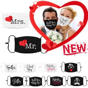 Bride Groom newand 2Pc Mrs Mr for Custom Face Wedding Guest Couple Mask Washable Masks Protective mascarilla