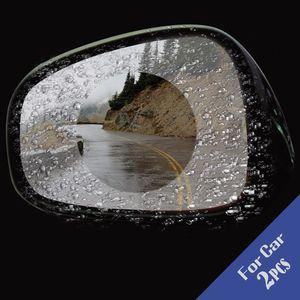 2Pcs Car Anti Fog Rainproof Rear View Mirror Window Protective Film