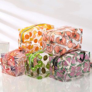 Fruit Transparent Cosmetic Bag Makeup Storage Organizer Waterproof Storage Pouch Travel Makeup Bag Case Toiletry