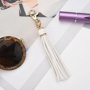 Newpu Leather Tassel Women Keychain Bag Pendant Alloy Car Key Chain Ring Holder Retro Jewelry Eh389 H bbyIyd