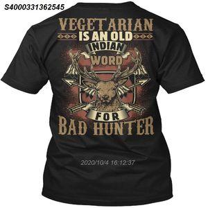 Camiseta de los hombres Vegetariana Mala Hunter (impresión trasera) Mujeres camiseta 5220410
