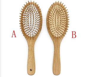 20pcs lot Hair Comb Bamboo Airbag Massage Comb bamboo cushion anti-static hair Brush combs travel