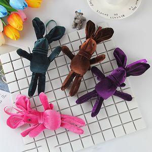 1pcs Hot Sale Korean Cotton Velvet Wishing Rabbit 20cm Bouquet Bunny Doll Plush Pendant Baby Toy Birthday Present For Children