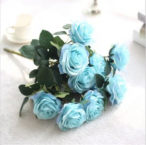 artificial flower simulation bouquet 10 French Rose Bouquet decoration living room decoration dining table floral silk flower T3I51607