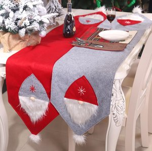 New Christmas Decorations Fabric Christmas Forester Table Banner Creative Christmas Coffee Table Restaurant Desktop Decoration free shipping