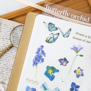 Butterfly Beautiful Kawaii Sticker Planner Korean Art Supplies Diy Cut Thin Stickers Sheet Color Stationery Stickers bbywOo sweet07
