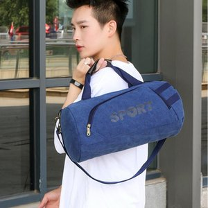 Unisex Travel Handbag Men Women High Quality Canvas Shoulder Bags Large Capacity Luggage Crossbody Bag Sports Gym Bag XA410F