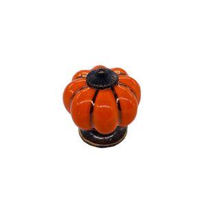 Pumpkin Shaped Handle Family Ceramics Drawer Wardrobe Door Handles Cupboard Shoe Cabinet Pulls Hot Sale High Quality 2 08sh J2