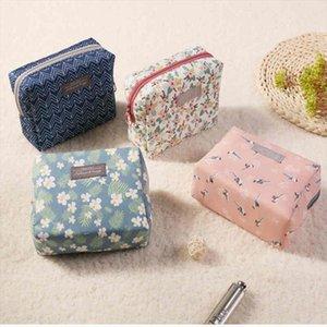 MoneRffi Sweet Floral Cosmetic Bag Travel Organizer Portable Beauty Pouch Toiletry Kit Mini Purse Makeup Pouch Makeup Wash Bag